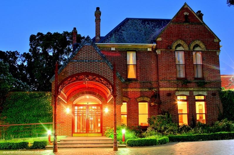 University House at dusk